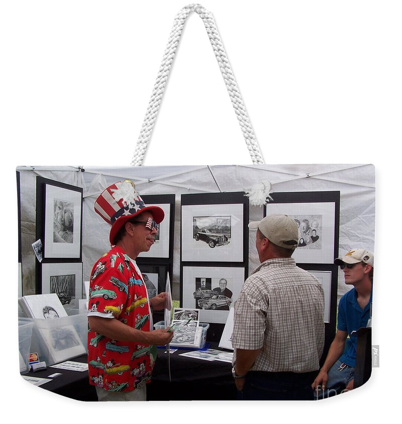 Bob Fitzgerald Weekender Tote Bag featuring the photograph Second Year Booth by Peter Piatt