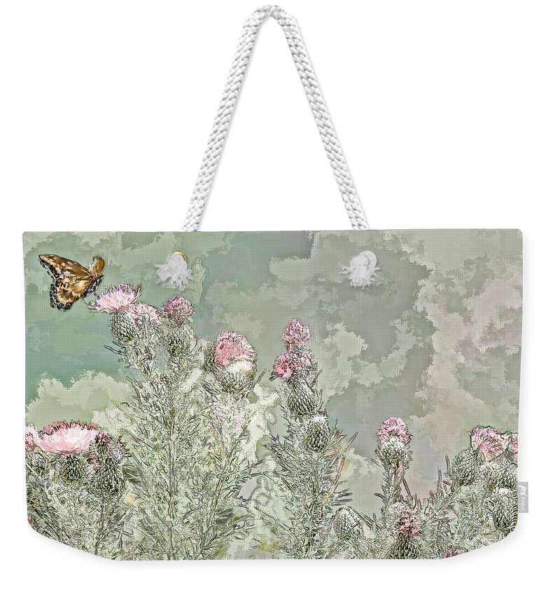 Butter Fly Weekender Tote Bag featuring the photograph Secret Garden by Bonnie Willis