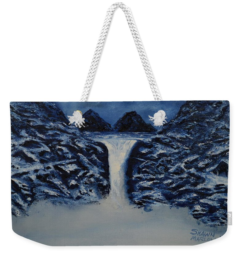 Water Weekender Tote Bag featuring the painting Secret Places by Shawn Marlow