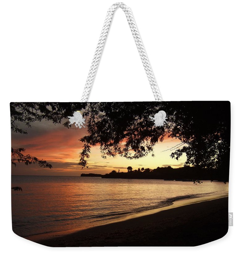 Weekender Tote Bag featuring the photograph Secret Sunset by Katerina Naumenko