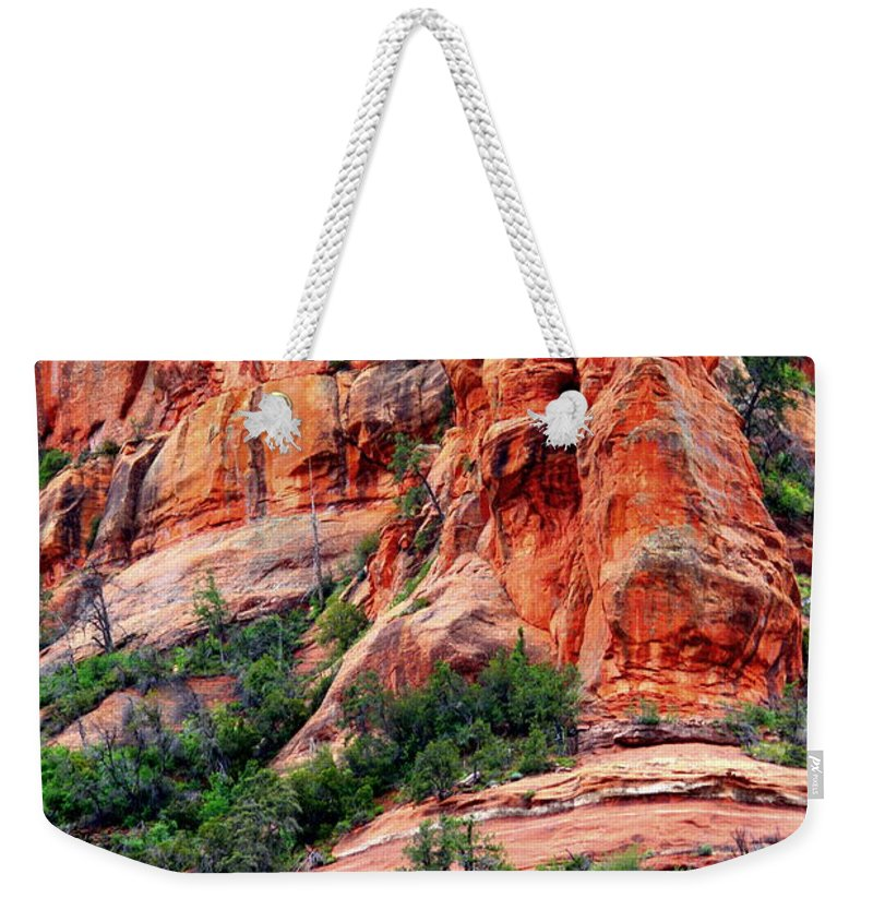 Sedona Weekender Tote Bag featuring the photograph Sedona Perspective by Carol Groenen