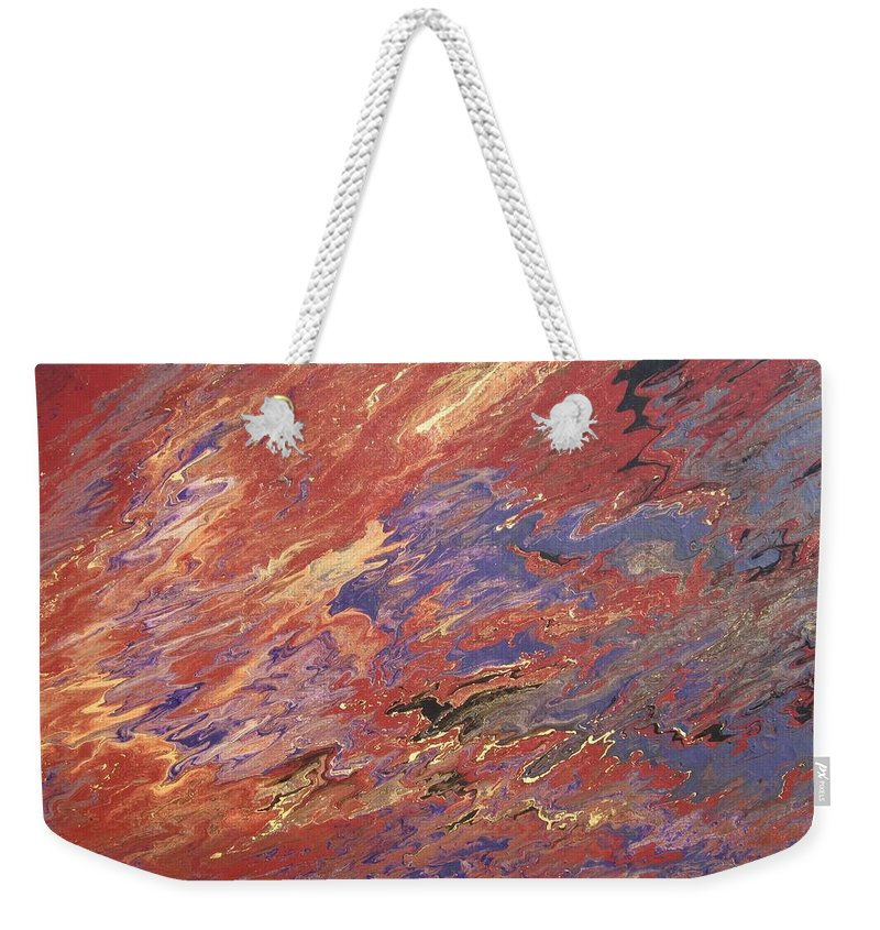 Fusionart Weekender Tote Bag featuring the painting Sedona by Ralph White