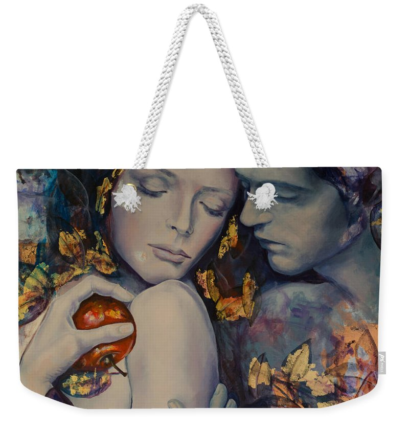 Art Weekender Tote Bag featuring the painting Seduction by Dorina Costras