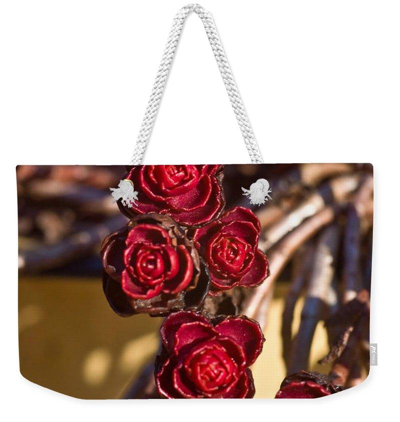 Flowering Weekender Tote Bag featuring the photograph Sedum Rosettes 2 by Douglas Barnett