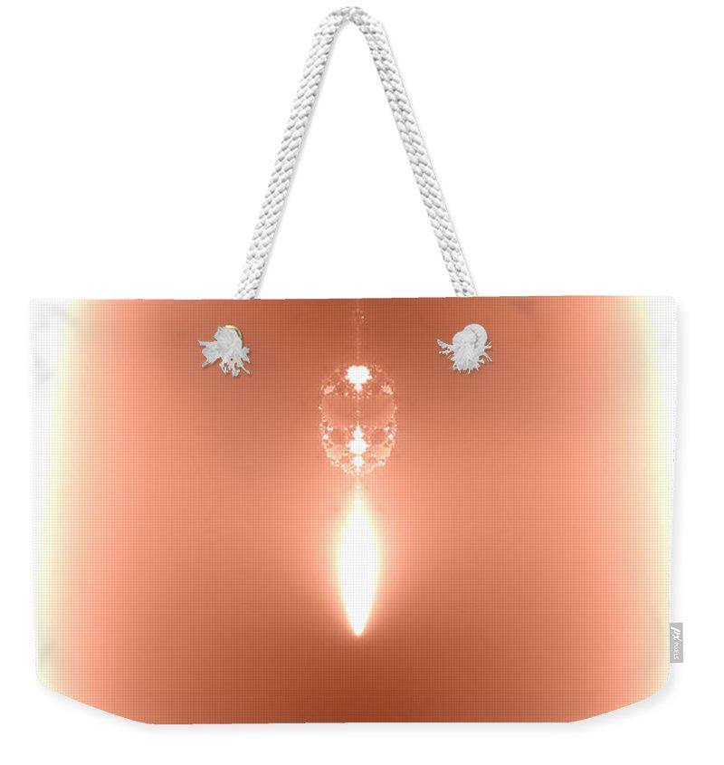 2-dimensional Weekender Tote Bag featuring the digital art Seed Of Eden - Tears by Dana Haynes