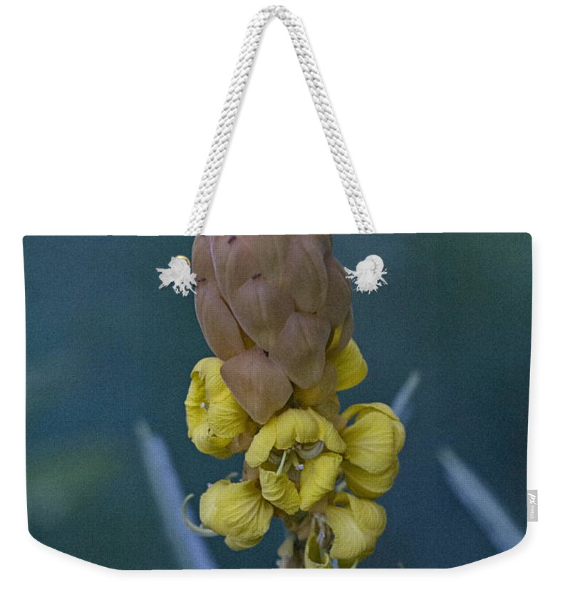 Yellow Weekender Tote Bag featuring the photograph Seeds by Douglas Barnard