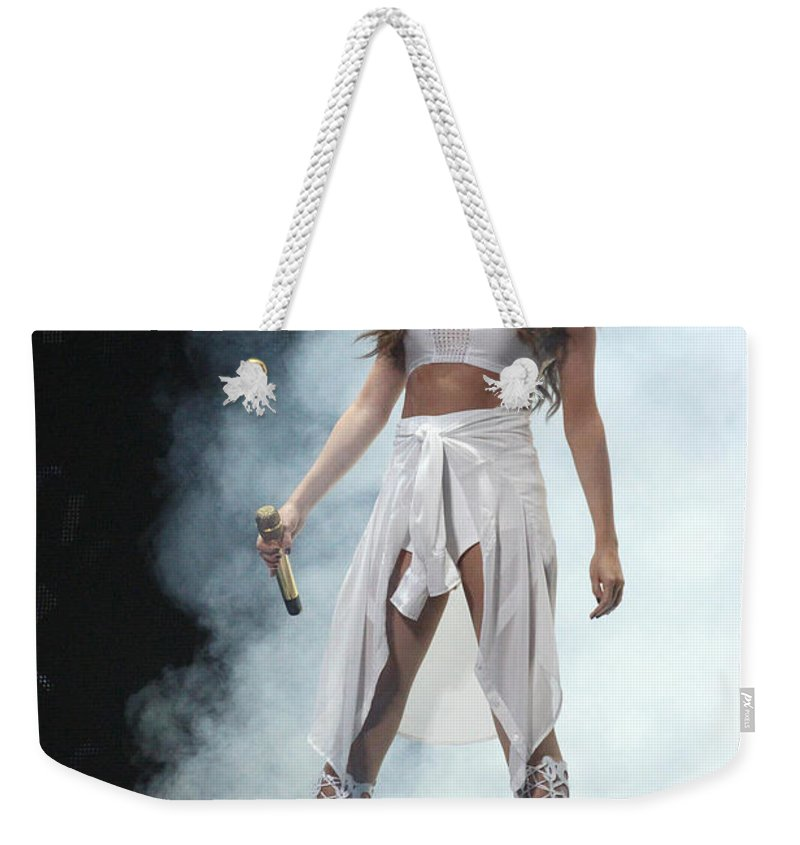 Selena Gomez Weekender Tote Bag featuring the photograph Selena Gomez-8646 by Gary Gingrich Galleries
