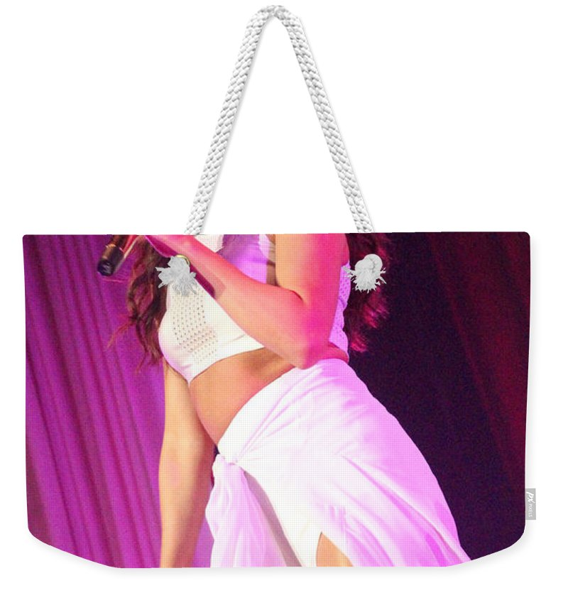 Selena Gomez Weekender Tote Bag featuring the photograph Selena Gomez-8854 by Gary Gingrich Galleries