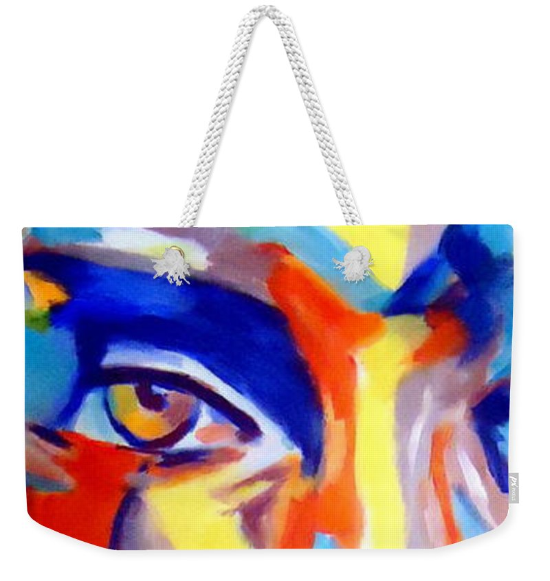 Contemporary Art Weekender Tote Bag featuring the painting Acceptance Of The Self by Helena Wierzbicki