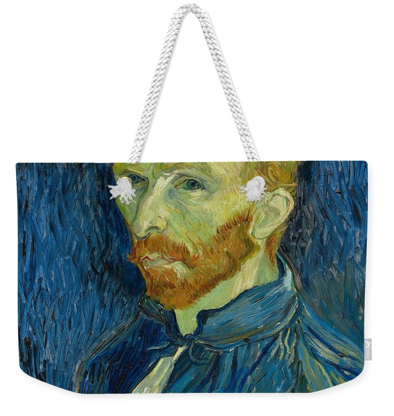 Vincent Weekender Tote Bag featuring the painting Self Portrait by Masterpieces Of Art Gallery