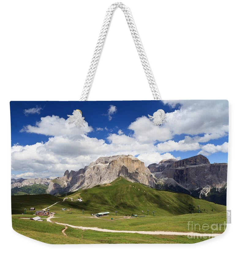 Alpine Weekender Tote Bag featuring the photograph Sella Group. Italian Dolomites by Antonio Scarpi