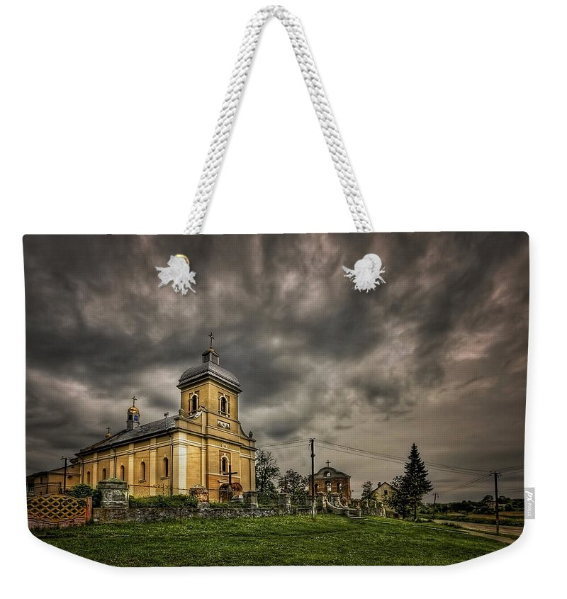 Church Weekender Tote Bag featuring the photograph Send Me An Angel by Evelina Kremsdorf