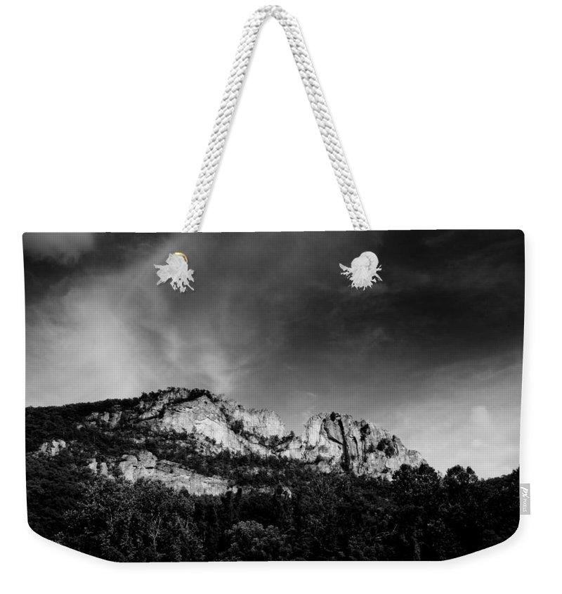 Seneca Rocks Weekender Tote Bag featuring the photograph Seneca Rocks by Shane Holsclaw