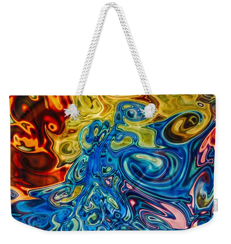 Georgia Okeefe Weekender Tote Bag featuring the painting Sensational Colors by Omaste Witkowski