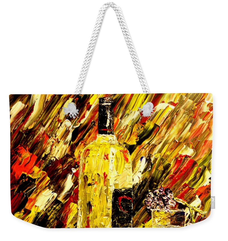 Popular Weekender Tote Bag featuring the painting Sensual Nights by Mark Moore
