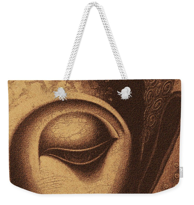 Face Weekender Tote Bag featuring the digital art Sepia Chalk 1 by David Lange