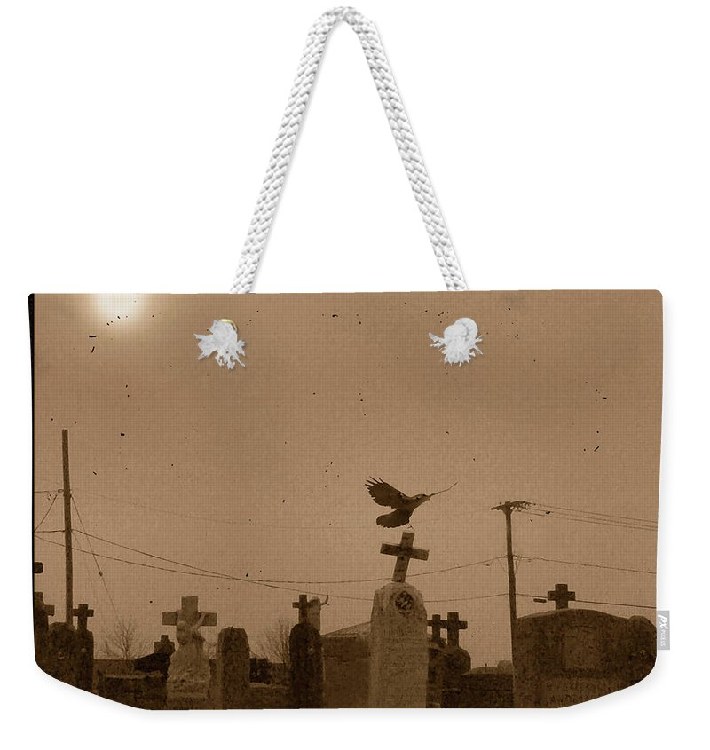 Fog Weekender Tote Bag featuring the photograph Sepia Morning Fog by Gothicrow Images