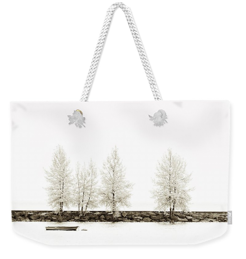 Autumn Weekender Tote Bag featuring the photograph Sepia Tree by U Schade