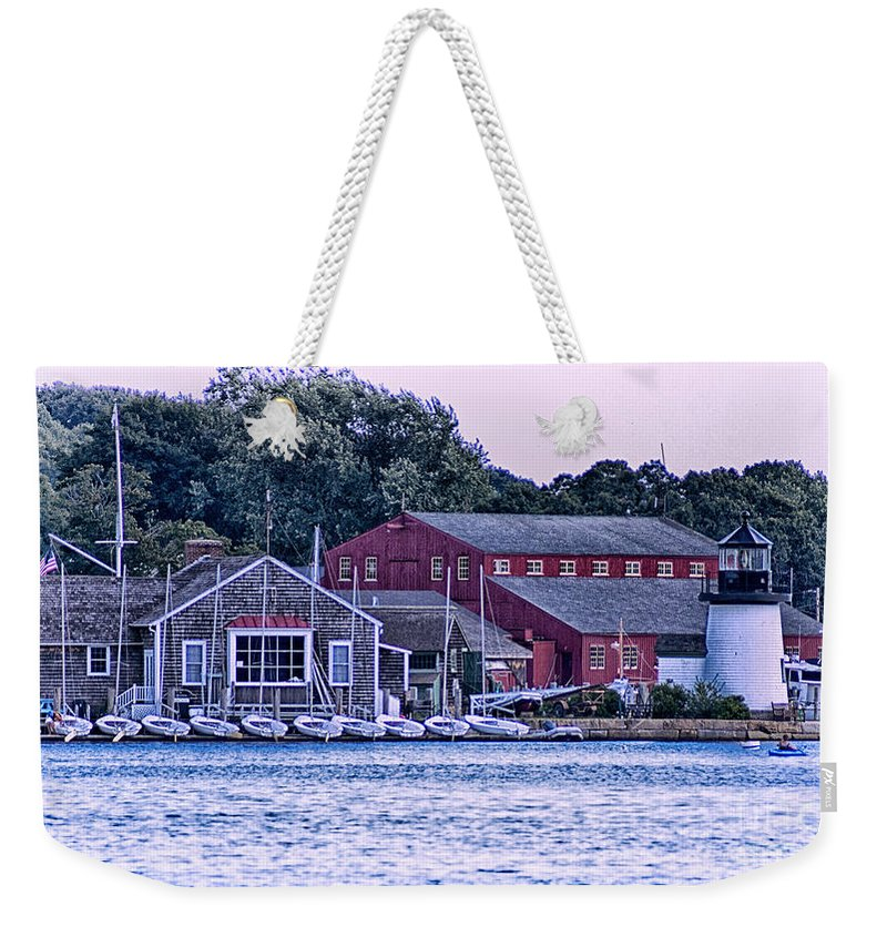 Mystic Weekender Tote Bag featuring the photograph Serene Seaport by Joe Geraci
