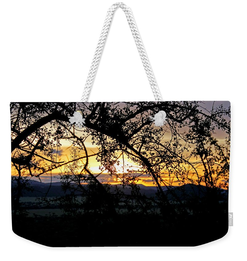 Sunset Weekender Tote Bag featuring the photograph Serengeti Sunset by Tony Murtagh