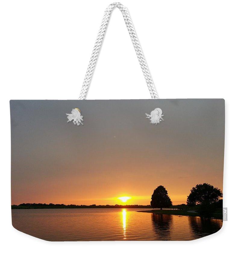 Lake Weekender Tote Bag featuring the photograph Serenity by Caryl J Bohn