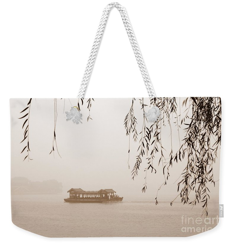 Sepia Weekender Tote Bag featuring the photograph Serenity In Sepia by Carol Groenen
