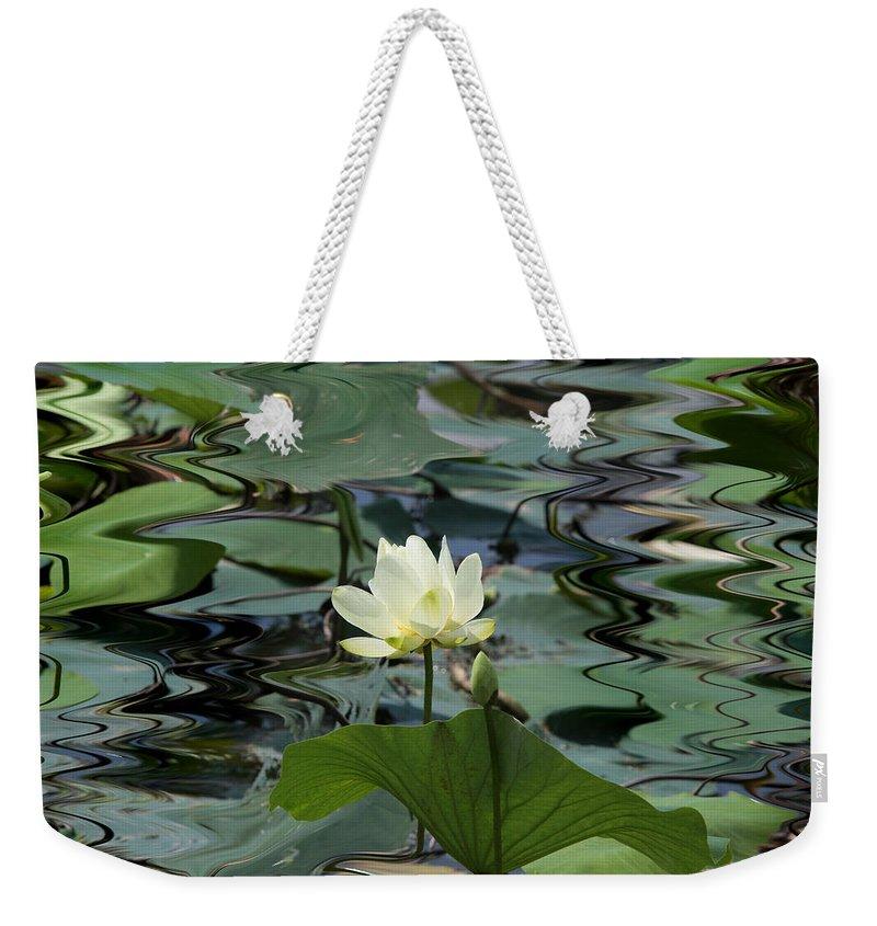 Lotus Weekender Tote Bag featuring the photograph Serenity by John Freidenberg