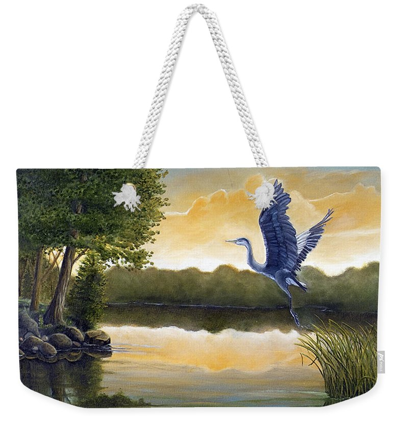 Rick Huotari Weekender Tote Bag featuring the painting Serenity by Rick Huotari