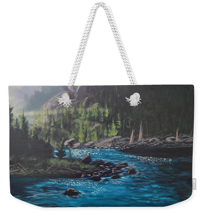 Nature Weekender Tote Bag featuring the painting Serenity by Robert Clark