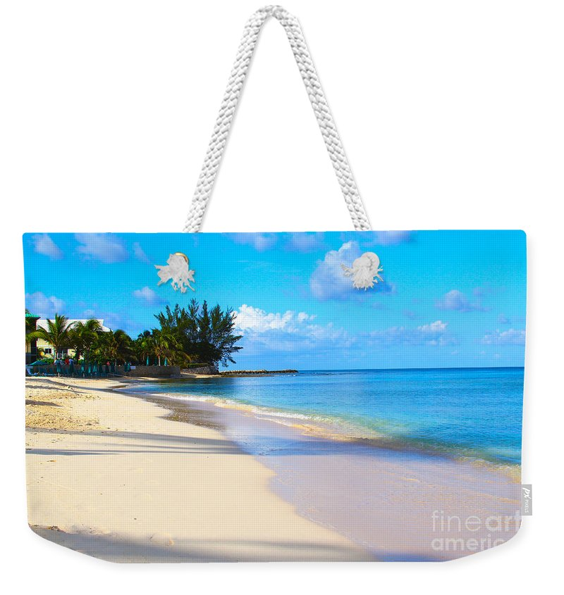 Seven Mile Beach Weekender Tote Bag featuring the photograph Seven Mile Beach by Carey Chen
