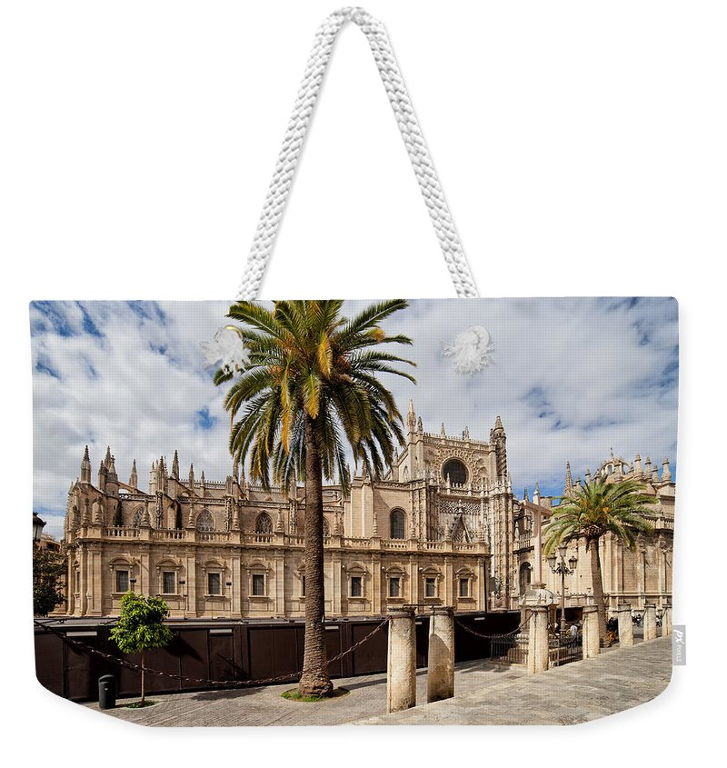 Spain Weekender Tote Bag featuring the photograph Seville Cathedral In Spain by Artur Bogacki