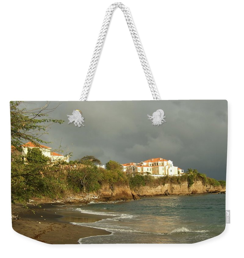 Weekender Tote Bag featuring the photograph Sgu Library Storm Clouds by Katerina Naumenko