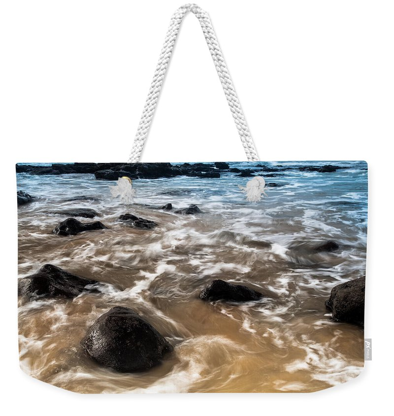 Sea Weekender Tote Bag featuring the photograph Shades Of Nature by Edgar Laureano