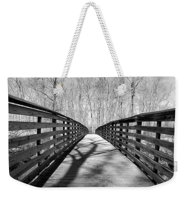 Tree Weekender Tote Bag featuring the photograph Shades Of Nature by Art Dingo