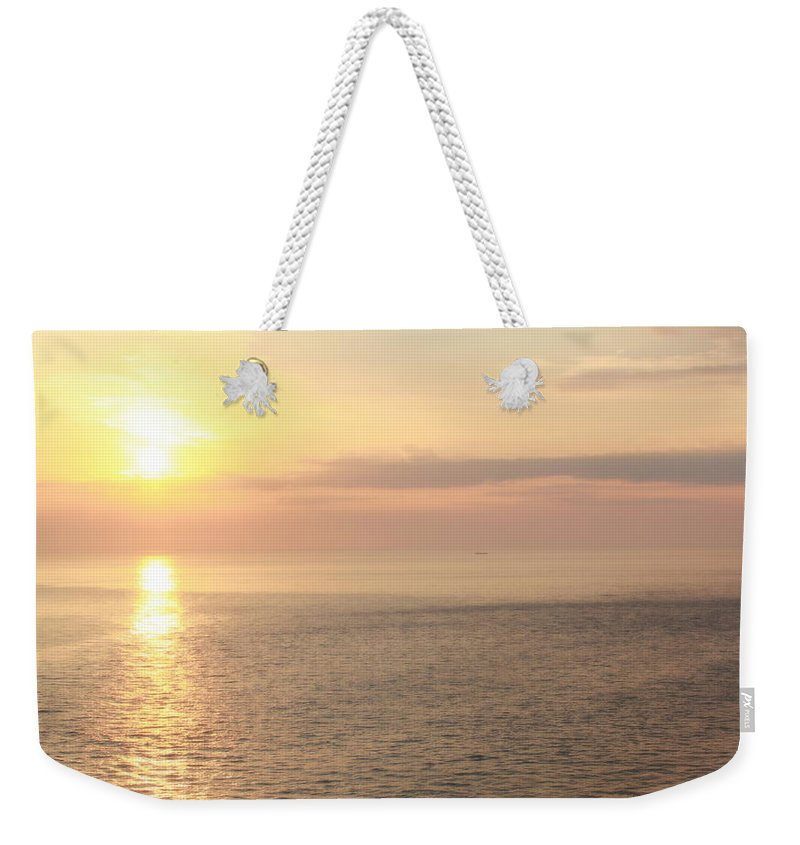 Sun Weekender Tote Bag featuring the photograph Shades Of Sunrise by Deborah Crew-Johnson