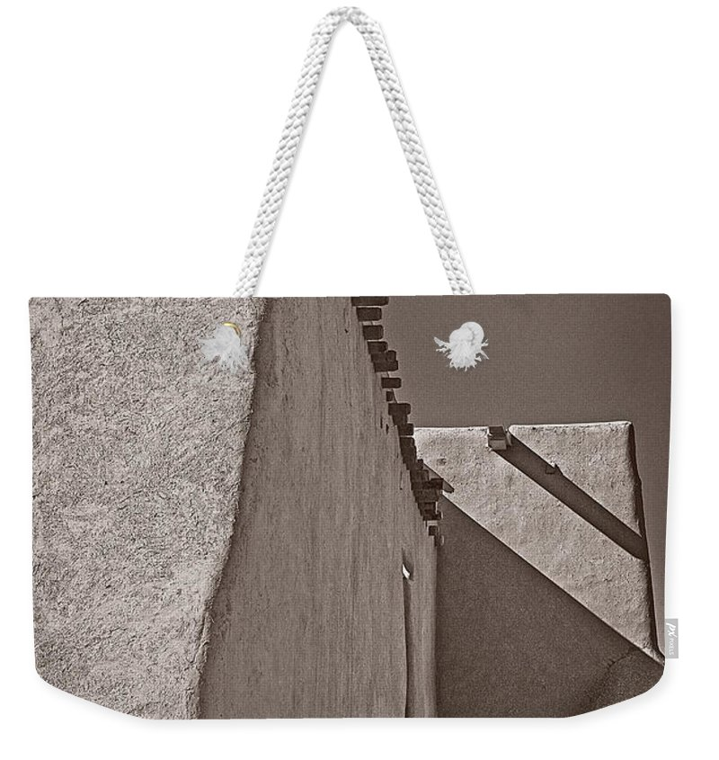 San Weekender Tote Bag featuring the photograph Shadows In Palladium by Charles Muhle