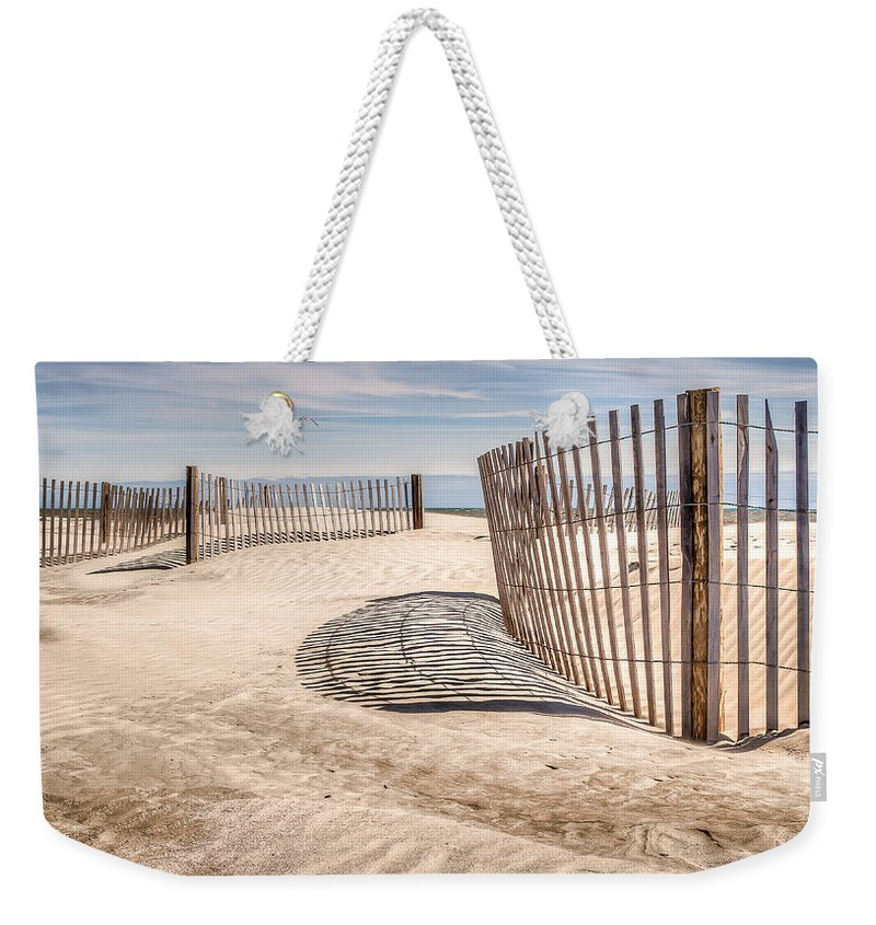 Folly Beach Weekender Tote Bag featuring the photograph Shadows In The Sand II by Curtis Cabana