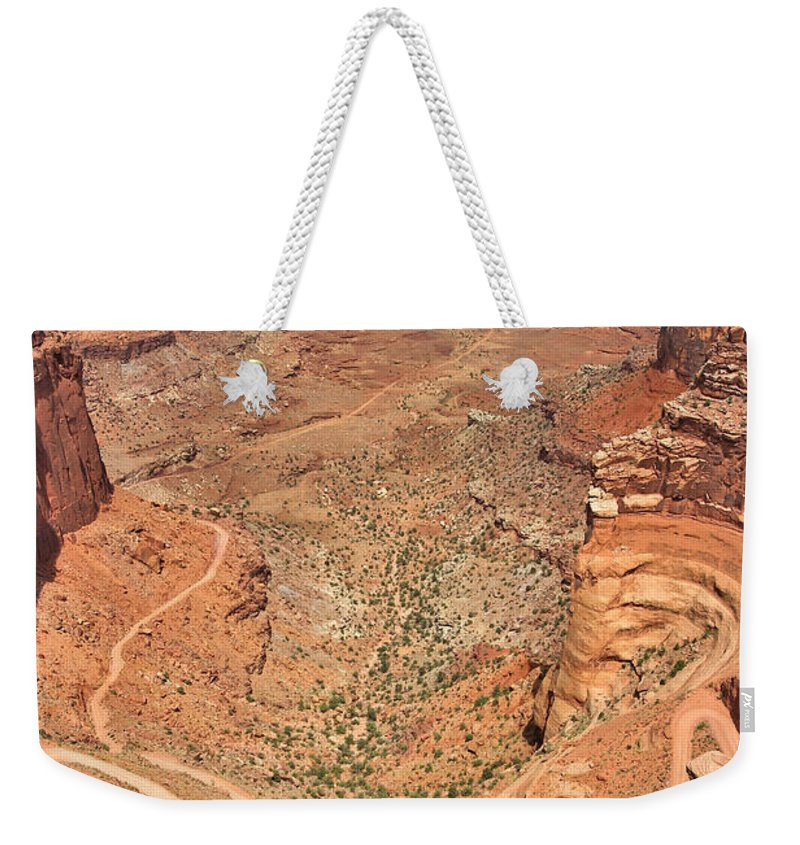 3scape Weekender Tote Bag featuring the photograph Shafer Trail by Adam Romanowicz