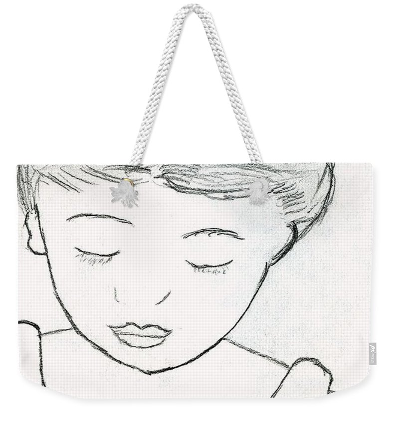 Little Girl Weekender Tote Bag featuring the photograph Shame by Amy Hosp