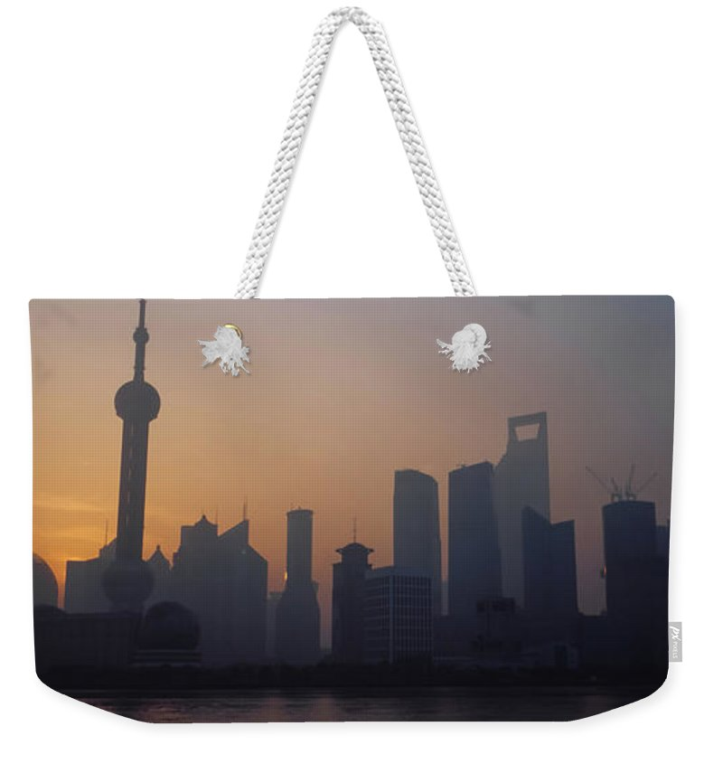 Tranquility Weekender Tote Bag featuring the photograph Shanghai In Early Morning by Xijia Cao