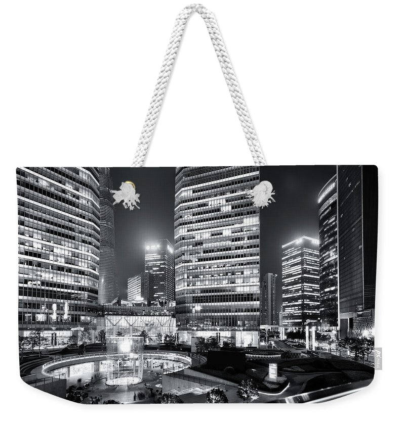 Financial District Weekender Tote Bag featuring the photograph Shanghai by Photographer - Rob Smith