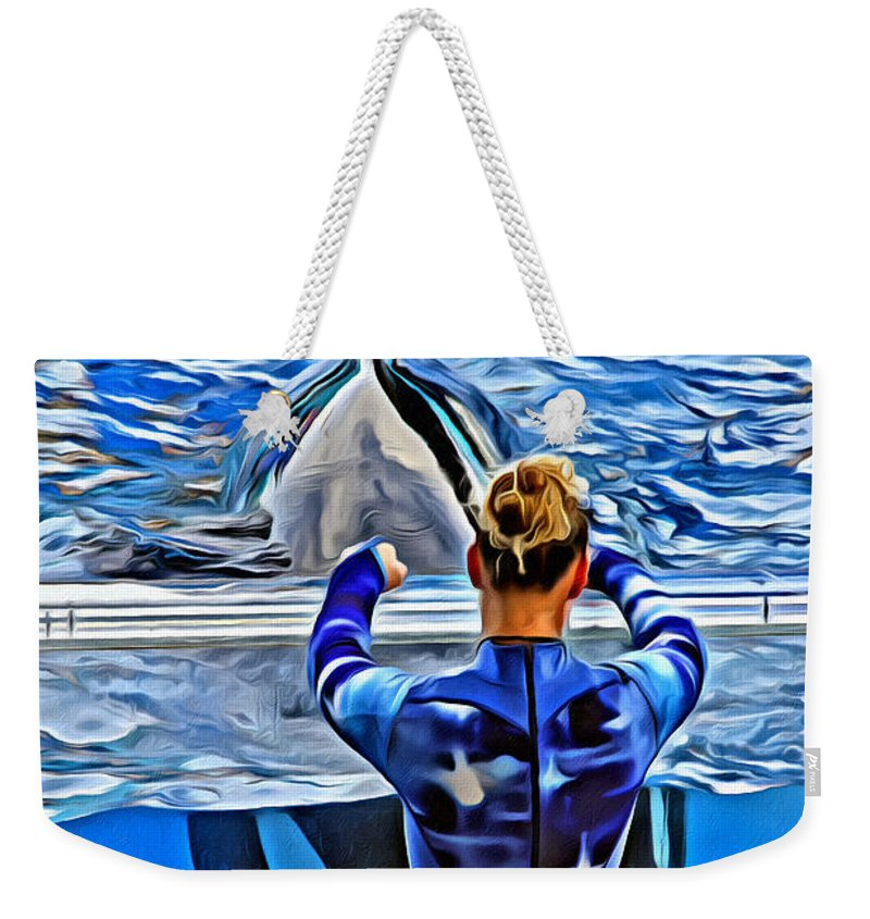 Whale Weekender Tote Bag featuring the photograph Shapely Orca by Alice Gipson