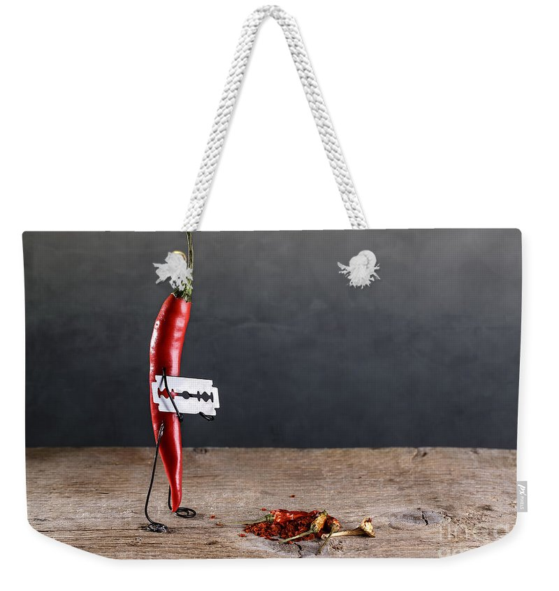 Sharp Weekender Tote Bag featuring the photograph Sharp Chili by Nailia Schwarz