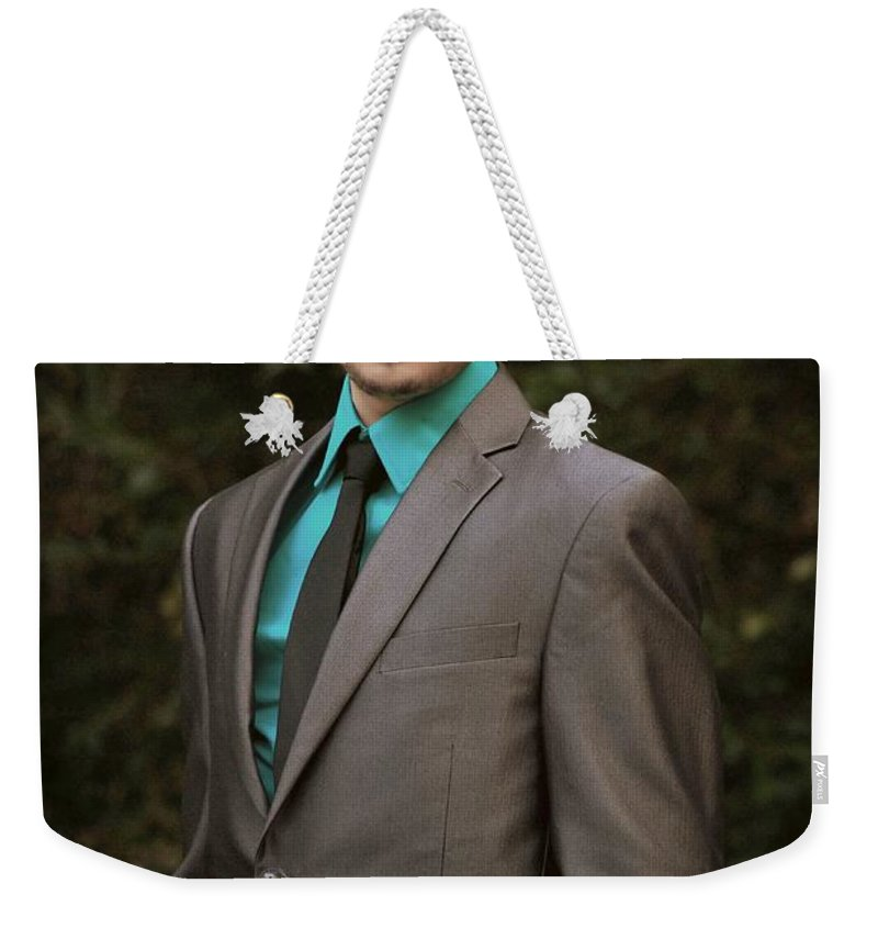 Portrait Weekender Tote Bag featuring the photograph Sharp Dressed Man by Paul Wilford