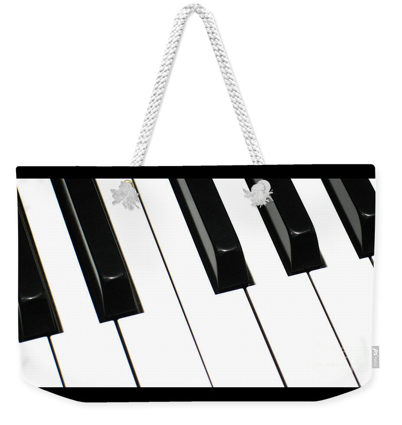 Piano Weekender Tote Bag featuring the photograph Sharps And Flats by Ann Horn