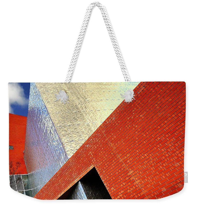 Architecture Weekender Tote Bag featuring the photograph Sharps by Wayne Sherriff