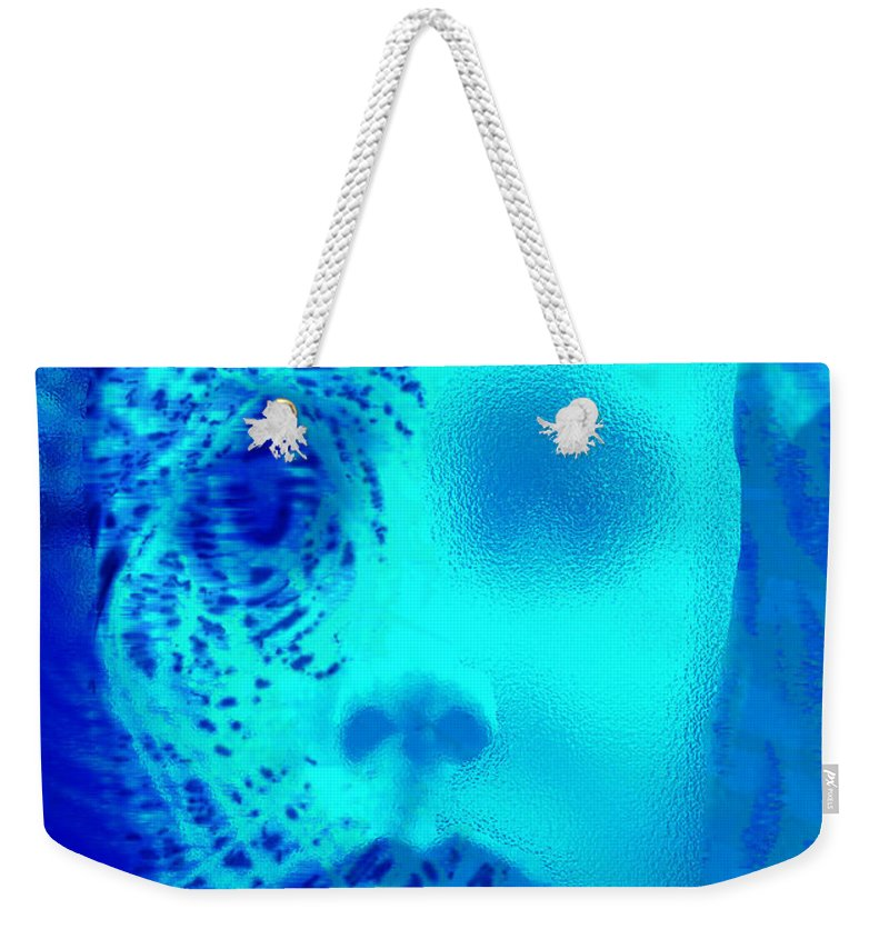 Shattered Doll Weekender Tote Bag featuring the digital art Shattered Doll by Seth Weaver