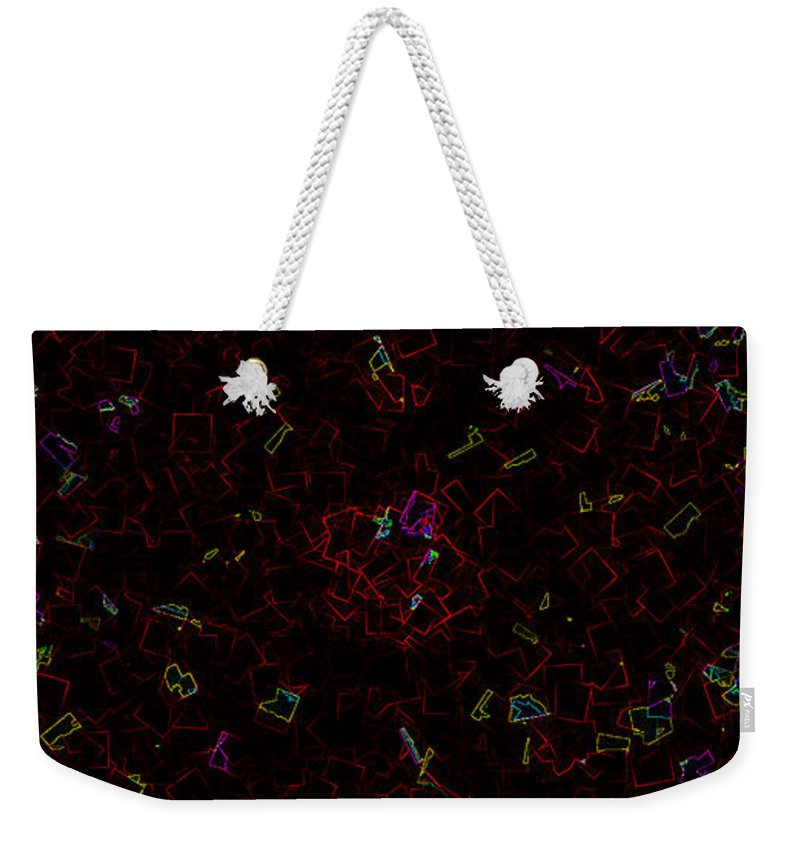 Shattered Weekender Tote Bag featuring the painting Shattered by Kume Bryant
