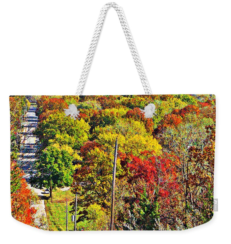 Landscape Weekender Tote Bag featuring the photograph Shawnee Hill by Chris Berry