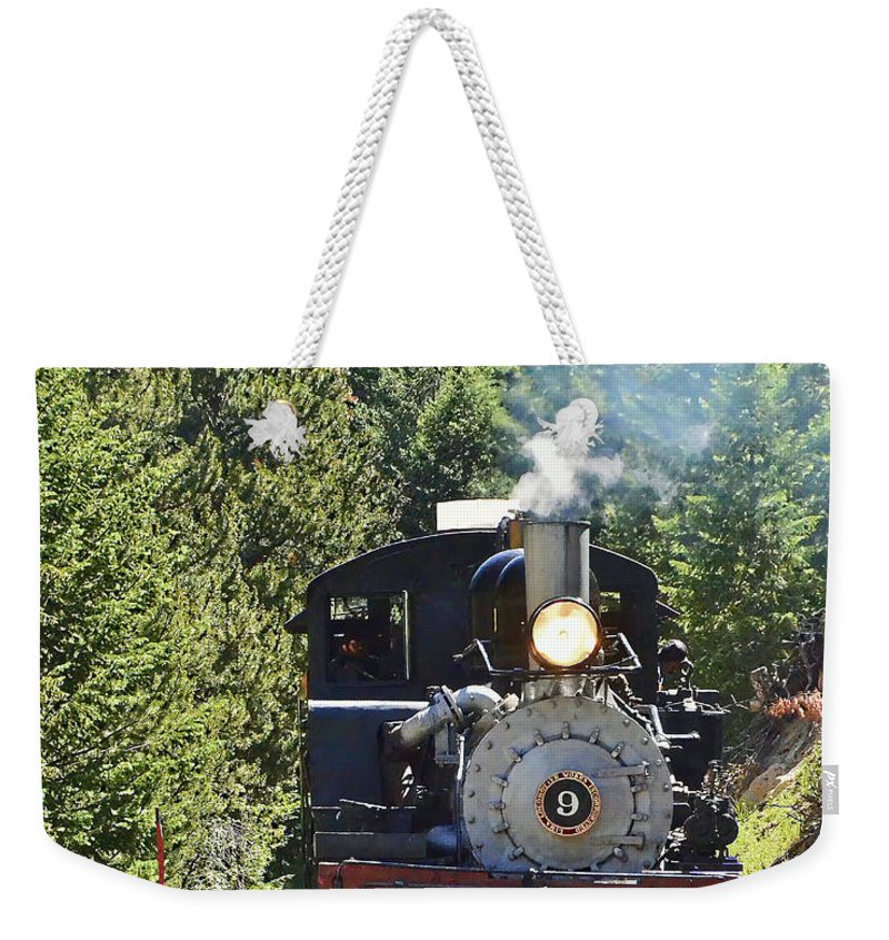 Steam Train Weekender Tote Bag featuring the photograph Shay On The Loop by Ken Smith